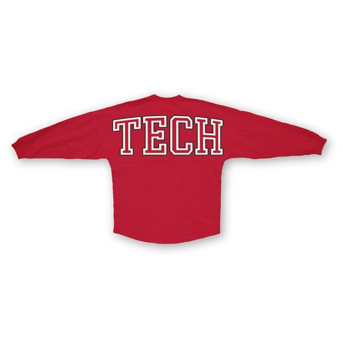 Three Squared Juniors' Texas Tech University Big Time Outline Sweeper T-shirt