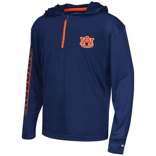 Colosseum Athletics™ Boys' Auburn University Sleet 1/4 Zip Hoodie Windshirt