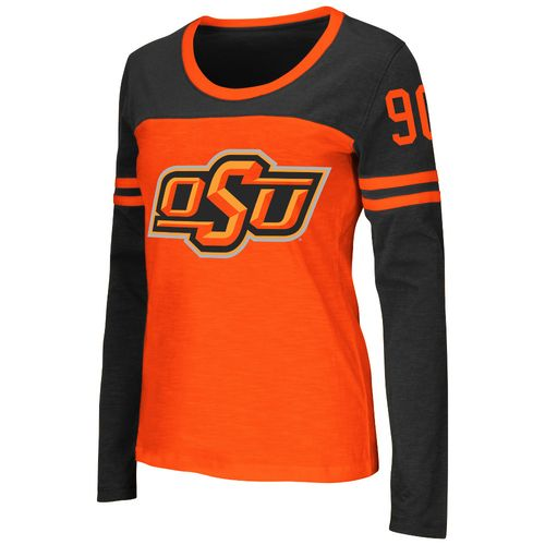 Colosseum Athletics™ Women's Oklahoma State University Hornet Football Long Sleeve T-shirt