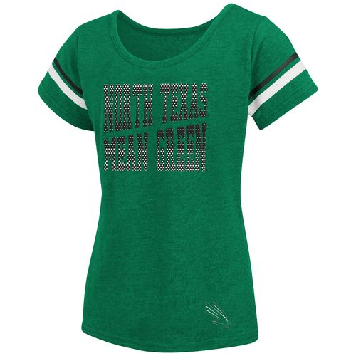 Colosseum Athletics™ Girls' University of North Texas Fading Dot T-shirt