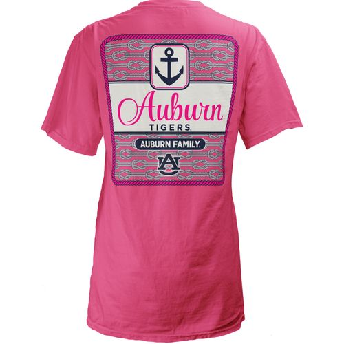 Three Squared Juniors' Auburn University Knotty Tide T-shirt