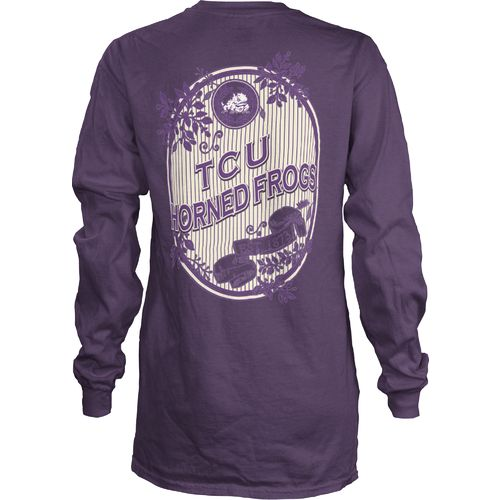 Three Squared Juniors' Texas Christian University Maya Long Sleeve T-shirt