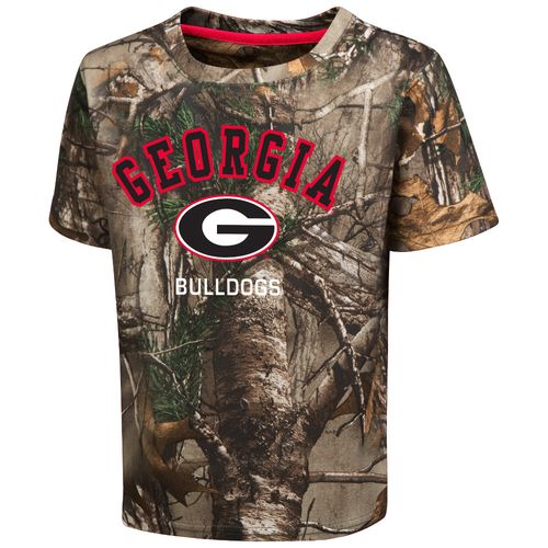Colosseum Athletics™ Toddler Boys' University of Georgia Blacktail Camo T-shirt