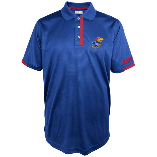 Majestic Men's University of Kansas Section 101 First Down Polo Shirt