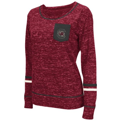 Colosseum Athletics™ Women's University of South Carolina Homies Raw Edge Pocket T-shirt