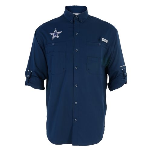Columbia Sportswear™ Men's Dallas Cowboys Tamiami II Long Sleeve Fishing Shirt