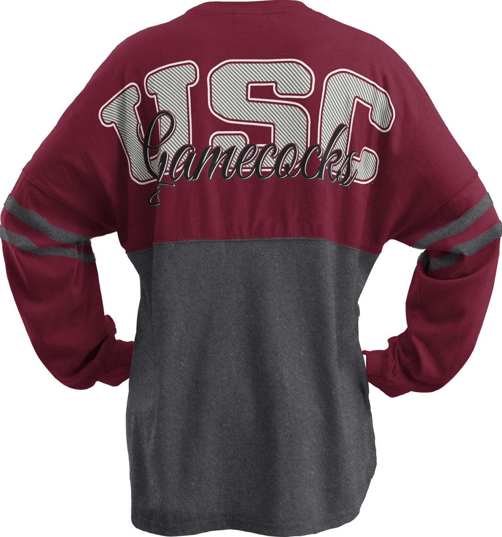 Three Squared Juniors' University of South Carolina Varsity Script Logo Sweeper T-shirt