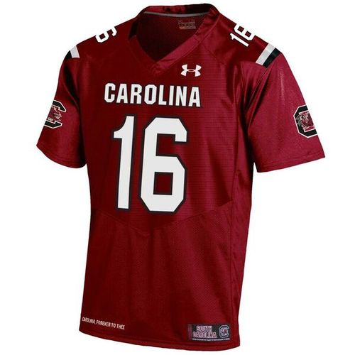 Under Armour Men's University of South Carolina No. 16 Replica Home Football Jersey - view number 1