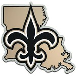Stockdale New Orleans Saints Acrylic State Shape Auto Emblem - view number 1