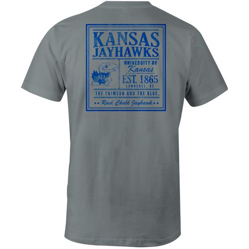 Image One Men's University of Kansas Comfort Color Vintage Poster Short Sleeve T-shirt