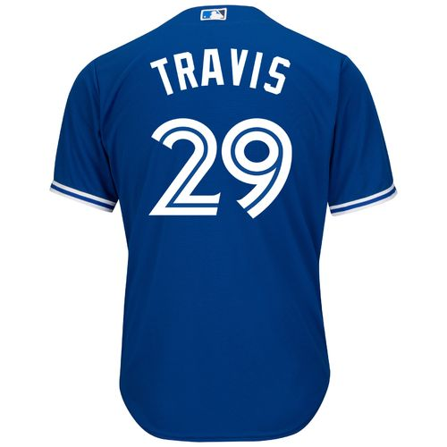 Majestic Men's Toronto Blue Jays Devon Travis #29 Cool Base Replica Jersey - view number 2