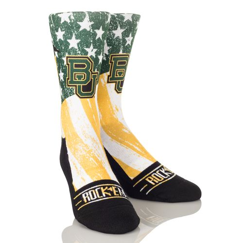 Rock 'Em Apparel Men's Baylor University Stars and Stripes Socks
