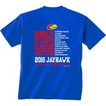 New World Graphics Men's University of Kansas Schedule T-shirt