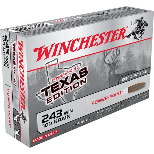 Display product reviews for Winchester Texas Edition Power-Point .243 Winchester 100-Grain Centerfire Rifle Ammunition