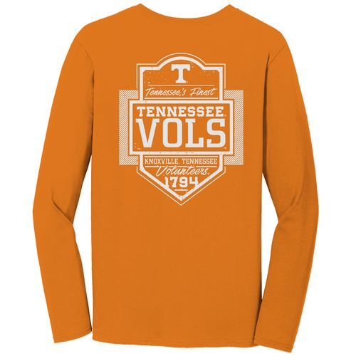 Image One Men's University of Tennessee Comfort Color Finest Shield Long Sleeve T-shirt