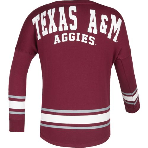 Colosseum Athletics™ Girls' Texas A&M University Boyfriend Varsity Pullover