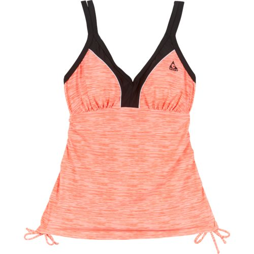 Gerry Women's Adjustable Strap Ruched Tankini Swim Top