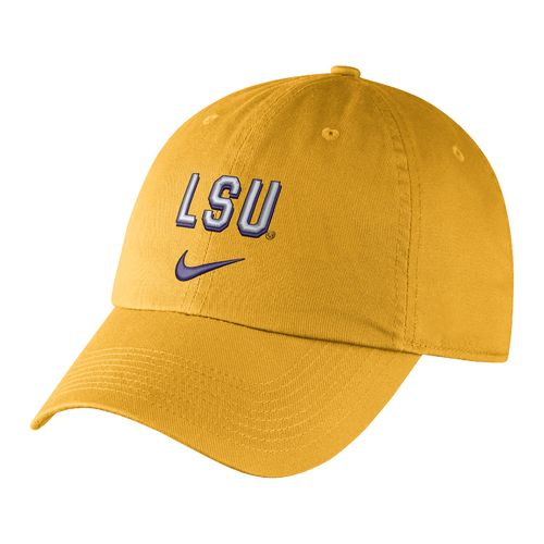 Nike Men's Louisiana State University Heritage86 Wordmark Swoosh Flex Cap