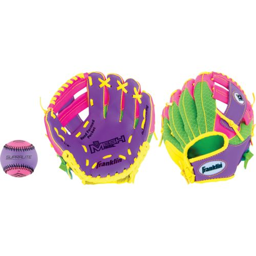 Franklin Youth Meshtek 9.5' T-ball Glove with Ball