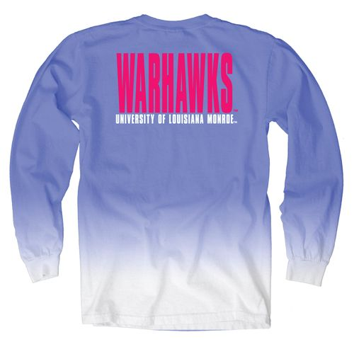 Blue 84 Women's University of Louisiana at Monroe Ombré Long Sleeve Shirt
