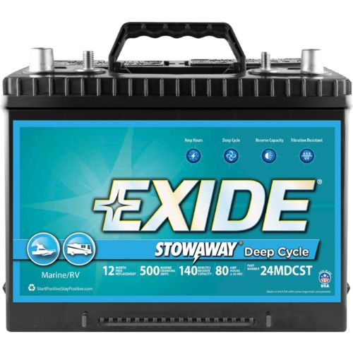 Exide Stowaway Deep Cycle Marine and RV Battery