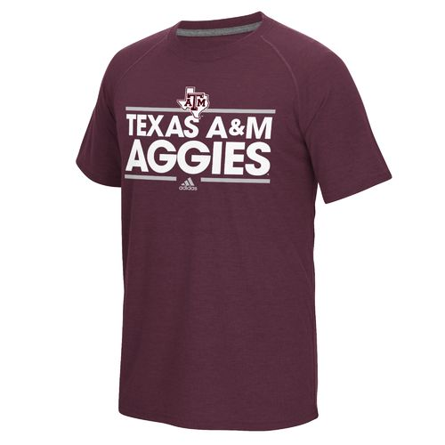 adidas Men's Texas A&M University Dassler Ultimate Short Sleeve T-shirt