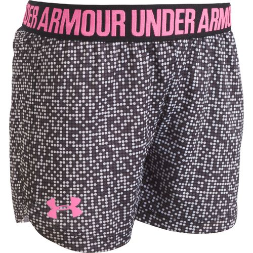 Under Armour Girls' Glaze Dot Printed Play Up Short