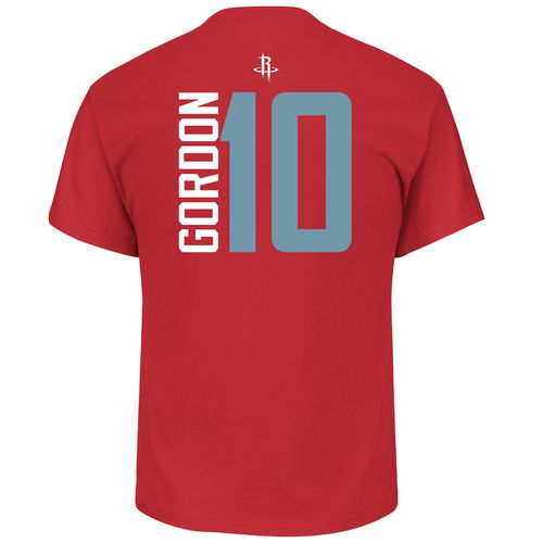 Majestic Men's Houston Rockets Eric Gordon 10 Vertical Name and Number T-shirt