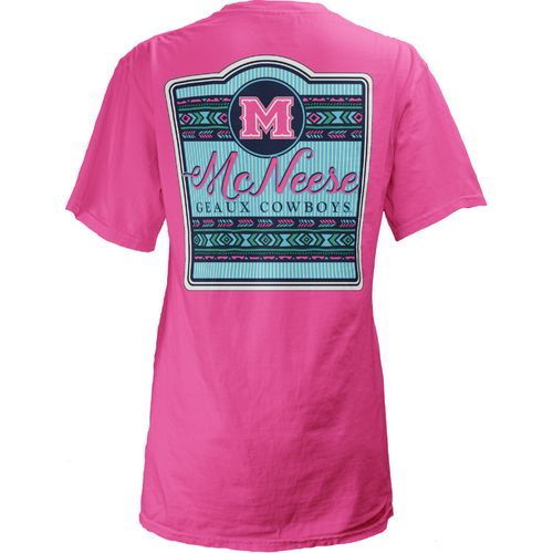 Three Squared Juniors' McNeese State University Baylee V-neck T-shirt