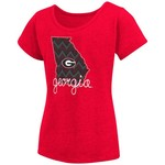 Colosseum Athletics™ Girls' University of Georgia Tissue 2017 T-shirt - view number 1
