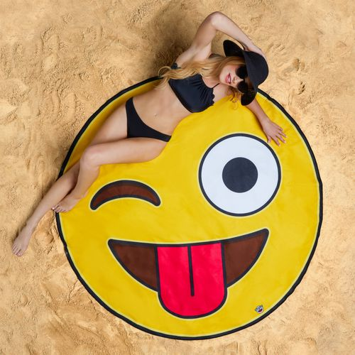 BigMouth Gigantic Crazy Emoji Beach Blanket