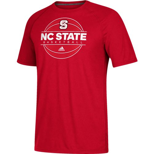 Adidas men 39 s north carolina state university on court for Nc state basketball shirt