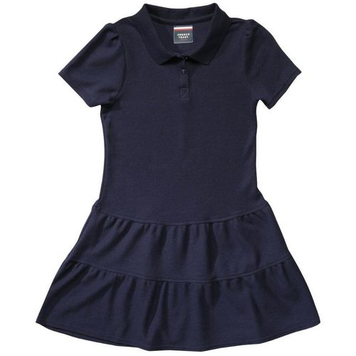 French Toast Girls' Ruffled Pique Polo Uniform Dress