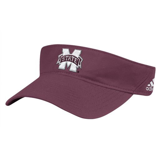 adidas Men's Mississippi State University Coach Adjustable Visor
