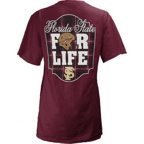 Three Squared Juniors' Florida State University Team For Life Short Sleeve V-neck T-shirt