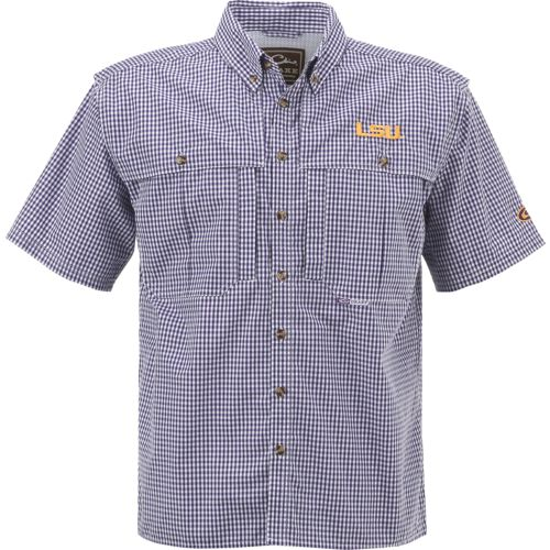 Drake Waterfowl Men's Louisiana State University Gameday Wingshooter's Short Sleeve Shirt
