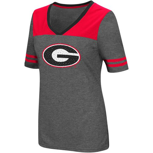 Colosseum Athletics Women's University of Georgia Twist V-neck 2.3 T-shirt - view number 1