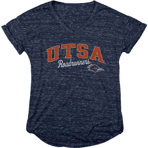 Blue 84 Women's University of Texas at San Antonio Dark Confetti V-neck T-shirt