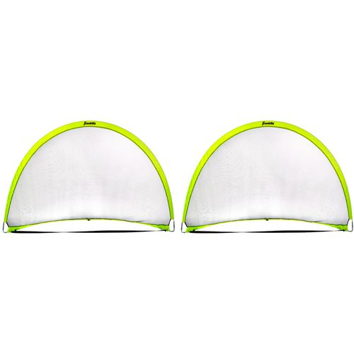 Franklin 4 ft x 6 ft Hyperbrite Dome Shaped Pop Up Soccer Goal 2 Pack