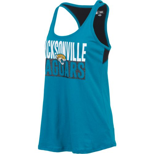 5th & Ocean Clothing Women's Jacksonville Jaguars Glitter Tank Top - view number 3