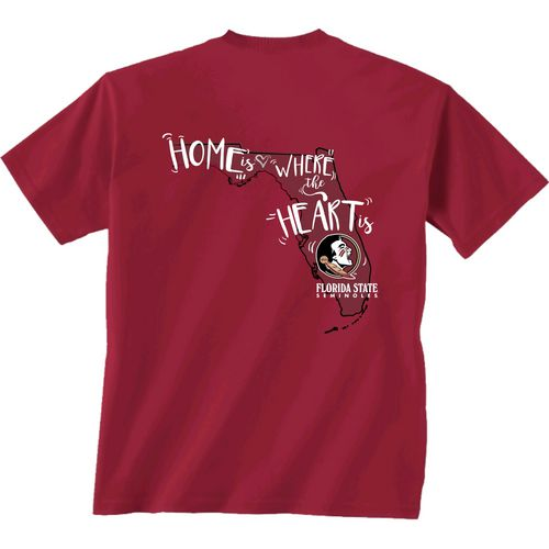 New World Graphics Girls' Florida State University Where the Heart Is Short Sleeve T-shirt