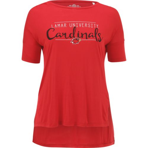 Three Squared Juniors' Lamar University Script T-shirt