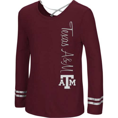 Colosseum Athletics Girls' Texas A&M University Marks the Spot Strappy Back Long Sleeve T-shirt