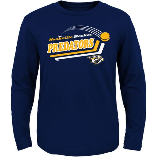 adidas Toddlers' Nashville Predators Pucks Away Long Sleeve T-shirt