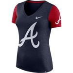 Nike Women's Atlanta Braves Logo Cooperstown Touch Top - view number 1