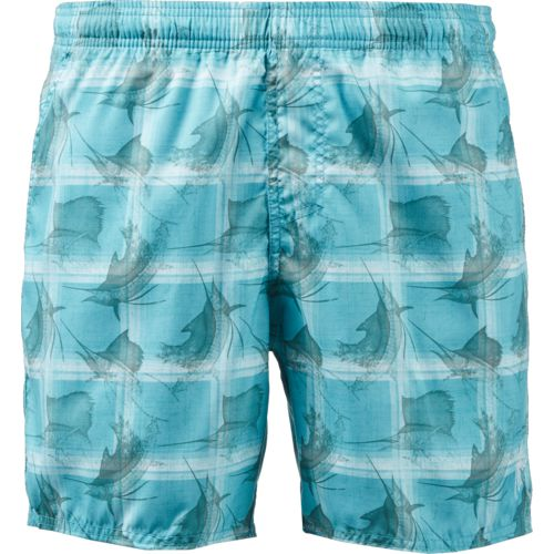 Guy Harvey Men's Sailfish Plaid Volley Shorts