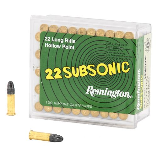 Display product reviews for Remington Subsonic™ .22 LR 38-Grain Rimfire Rifle Ammunition