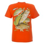 Guy Harvey Youth Bass Collage T-shirt
