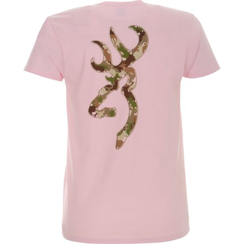 Image for Women's Browning Whitetail Camo Buckmark T-shirt from Academy