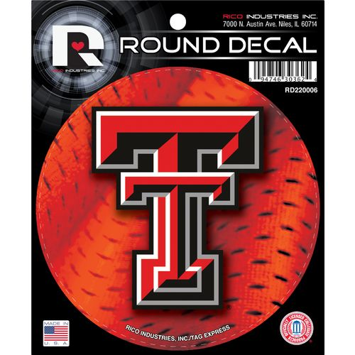 Tag Express Texas Tech University Round Decal - view number 1